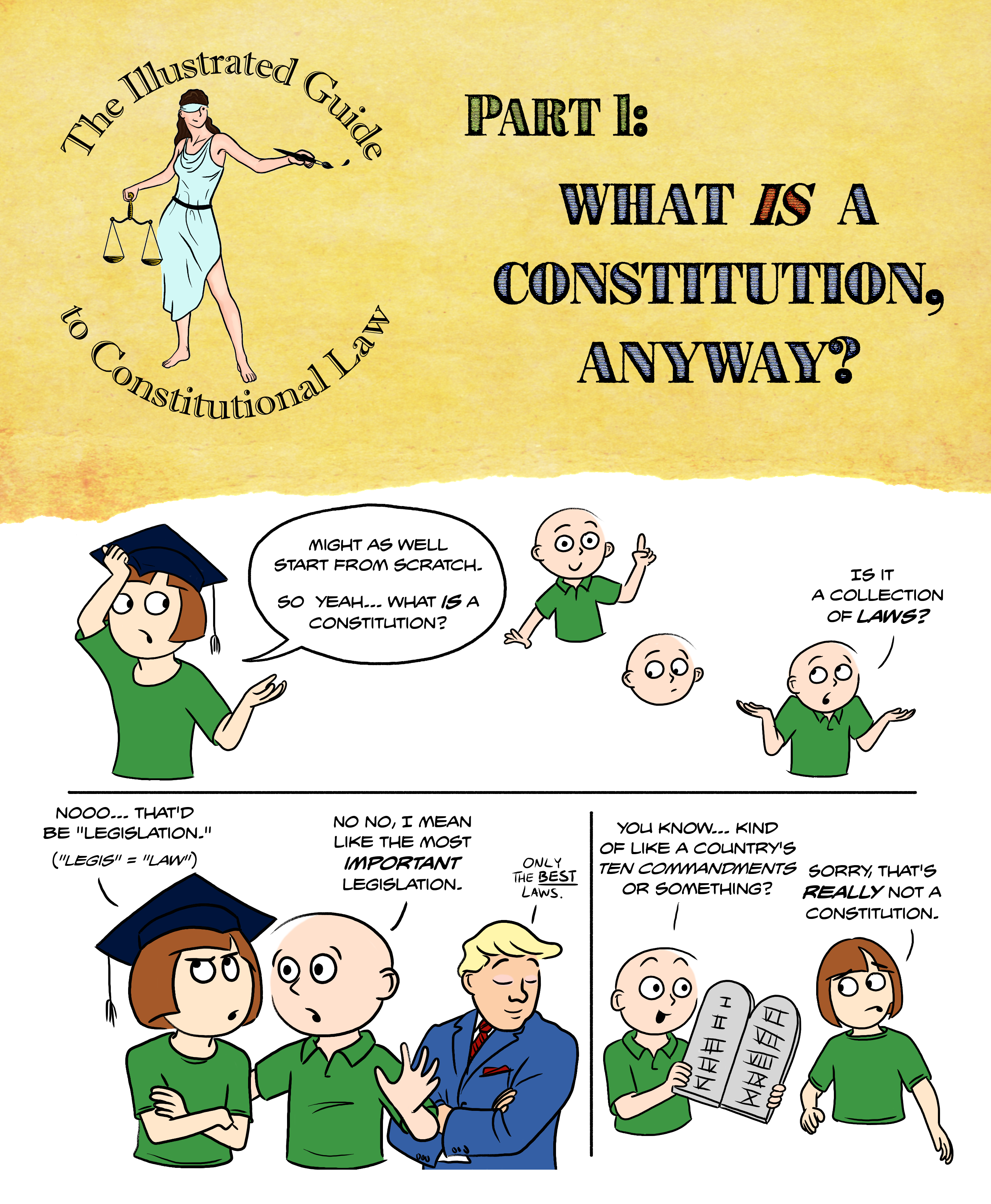 What is a constitution? A constitution is not a collection of laws. Not even the really important laws.