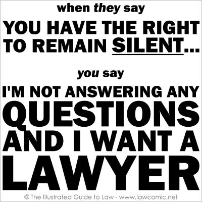 I Want a Lawyer flat 400