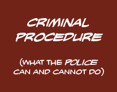 Criminal Procedure: what the POLICE can and cannot do