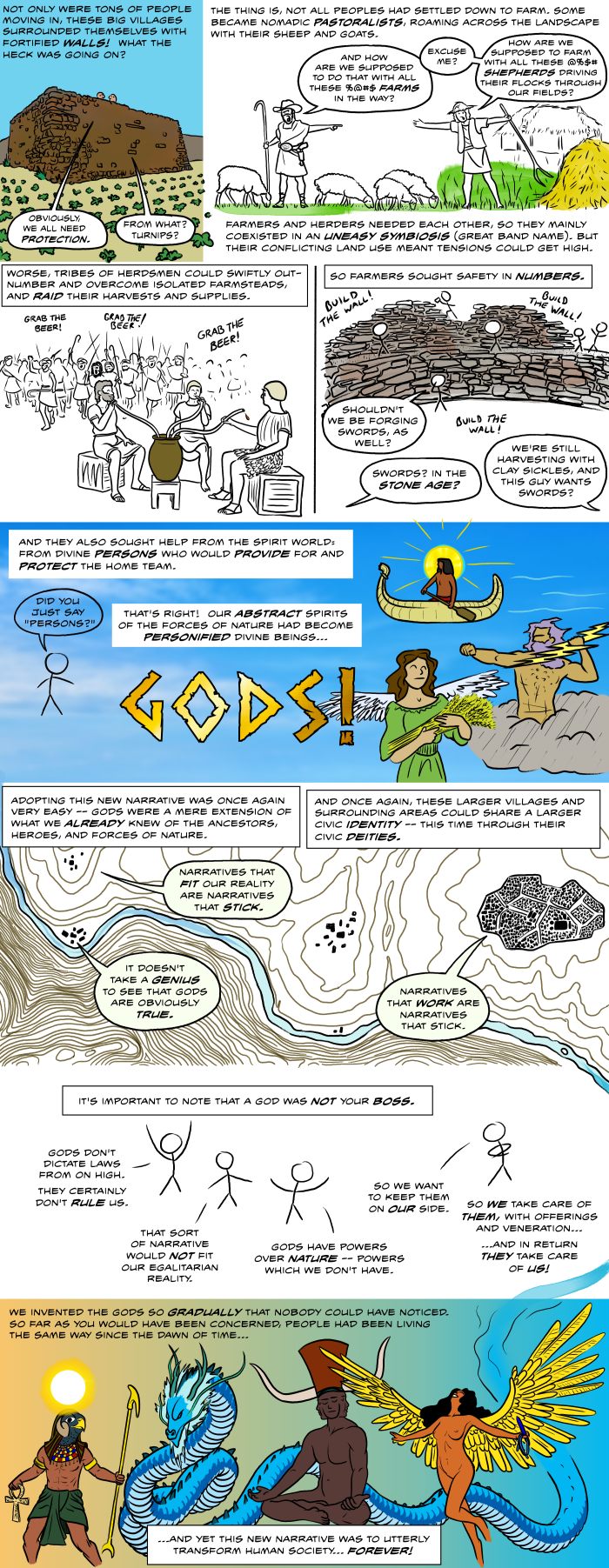 How did humankind invent gods? This is how.